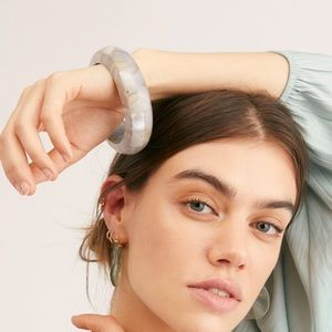 Free People Abalone Bangle in Grey NWT